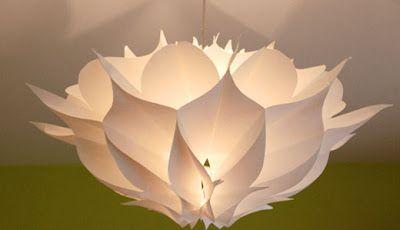 A n z u: Paper chandeliers