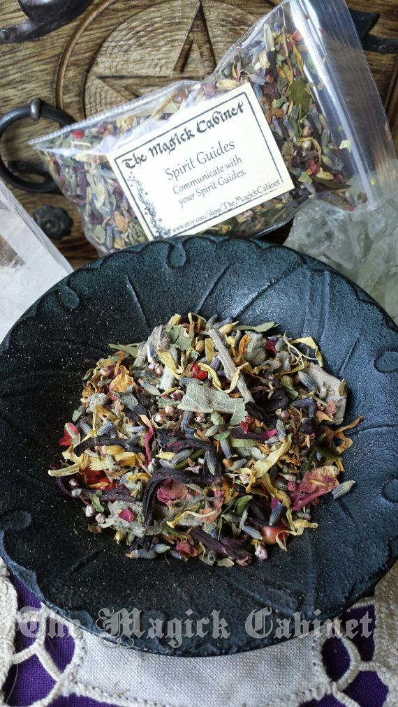 Spirit Guide Herbs for Witches, Dried Herbs, Mojo bag, Magical Herbs, Ritual, Wicca, Pagan Supplies, Natural Incense, Herbal Incense,