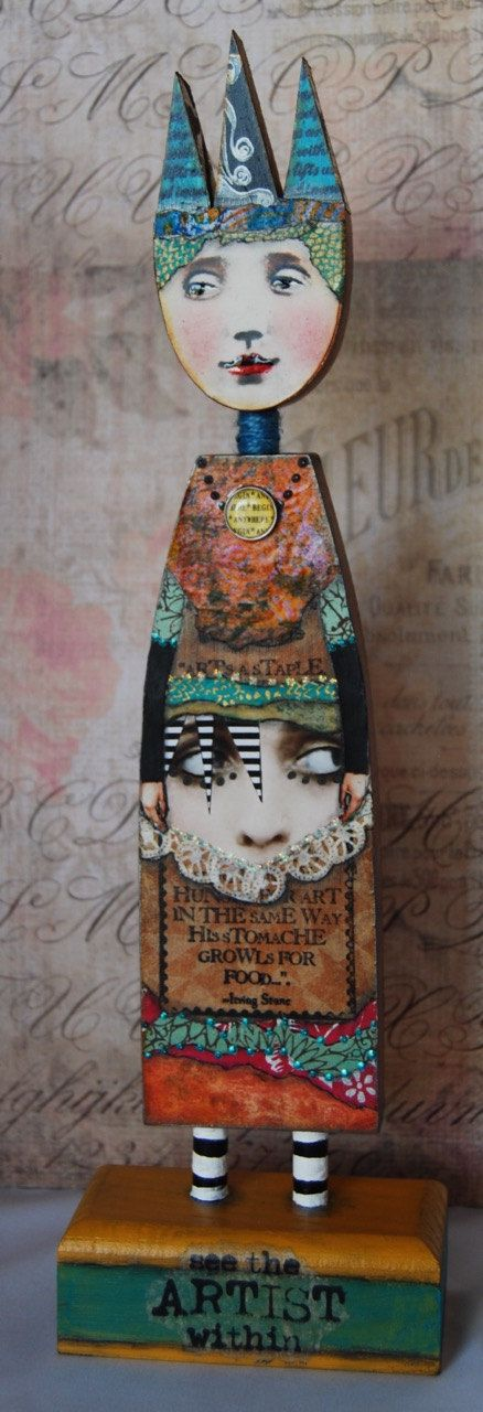 Altered Art Doll  The Artist Within by desertdreamstudios on Etsy