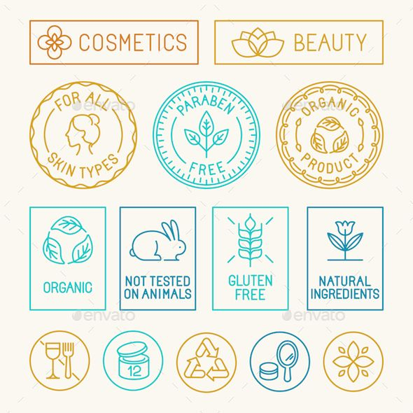 Natural Cosmetics Badges Template EPS, AI #design Download: http://graphicriver.net/item/natural-cosmetics-badges/13740023?ref=ksioks