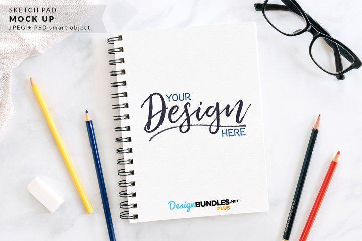 Sketch Pad Mock Up Sketch Pad Business Card Logo Mockup
