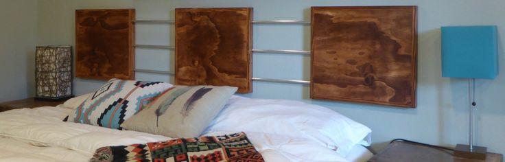 Modern Headboard/Wood Panel Headboard/Industrial by WoodWinn