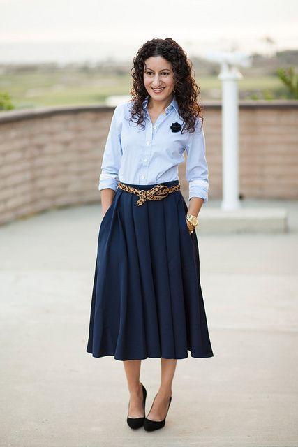 Fabulous Midi Skirt Outfits