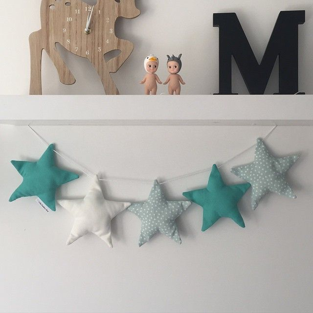 I sent this turquoise/mint star garland down to @commongroundhome earlier today #commongroundhome #littlebambinobear #stargarland #wabusinessdirectory #nurserydecor #kidsdecor #wamade #australianmade