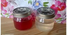 GEL PROFUMATORE. Vasetti in vetro, 2 fogli di colla di pesce, 1 cucchiaio di sale, 120 g di acqua, olio essenziale a scelta, colorate alimentare (facoltativo).