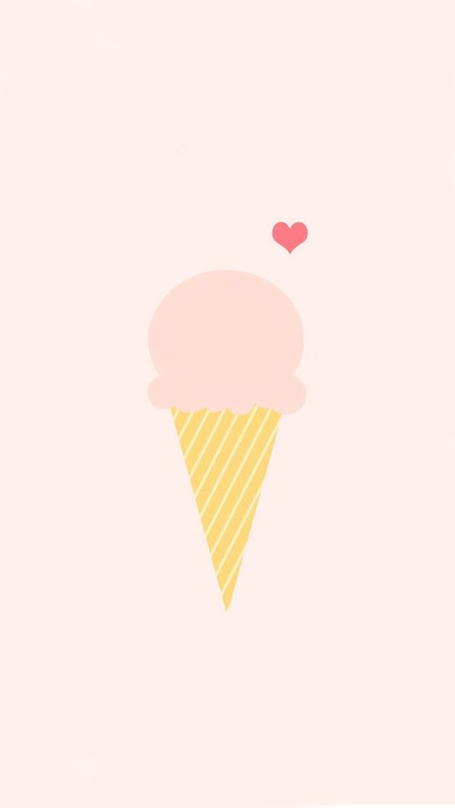 Ice Cream Love Pink Illustration iPhone 5 Wallpaper