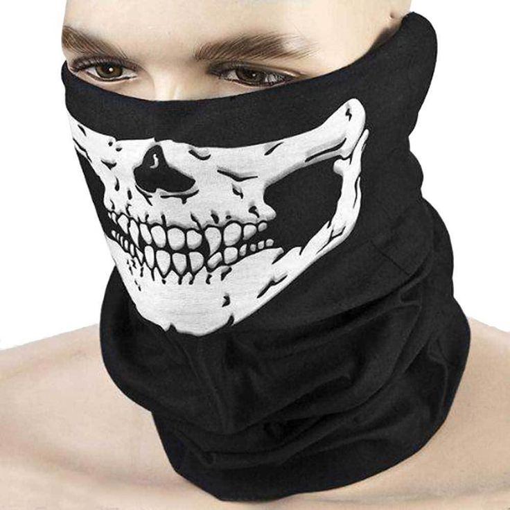 Skull Face Mask Neck Tube Scarf Snood Balaclava Ski Cycling Biker BMX Bandana