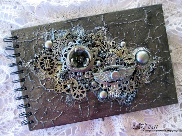 Mary's Crafty Moments: ''Altered Notebook Cover'' - A DT Layout for 2Craf...