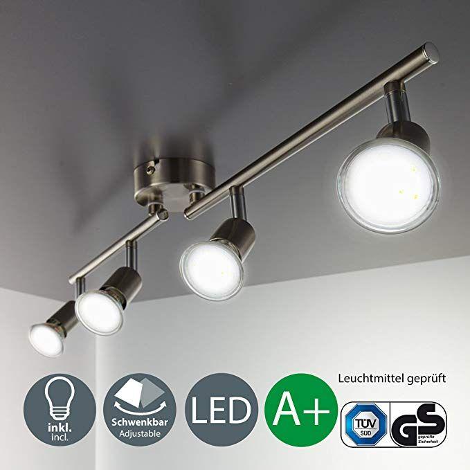 GU10 4-Flammig Deckenleuchte LED Deckenlampe Schwenkbar Schlafzimmer Wohnzimmer