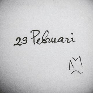 Kabisat . . #29 #duapuluhsembilan #sangalikur #twentynine #Pebruari #February #2016 #Kabisat #lettering #typography #freehand #drawingpen #monochrome #art #artwork #myfreehandArt #AAI