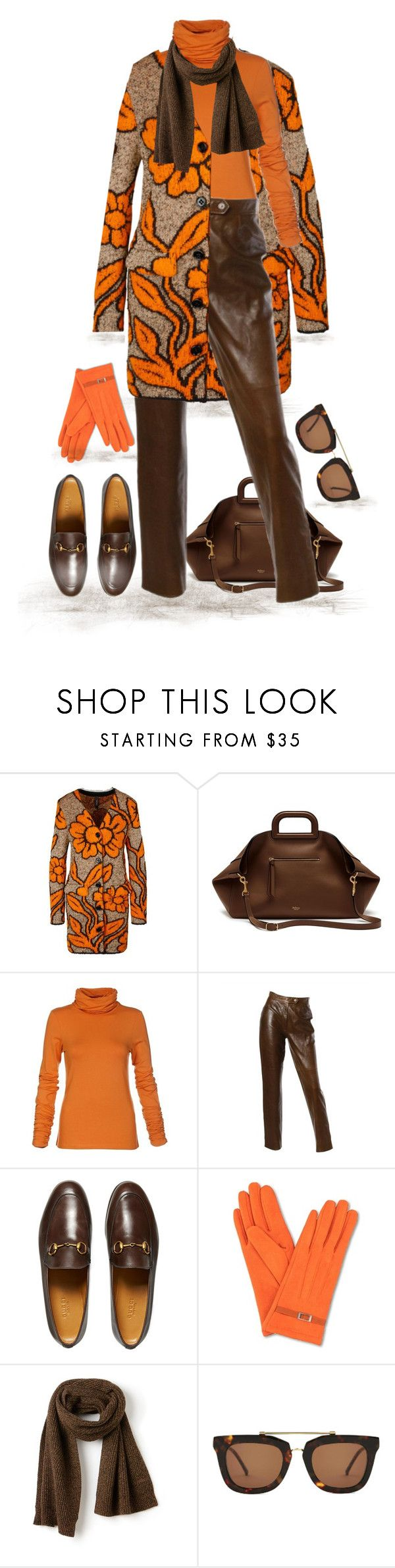 """""""Autumn Warmth(outfit only)"""" by runners ❤ liked on Polyvore featuring MARC CAIN, Mulberry, Burberry, Gucci, Lacoste and Kaibosh"""