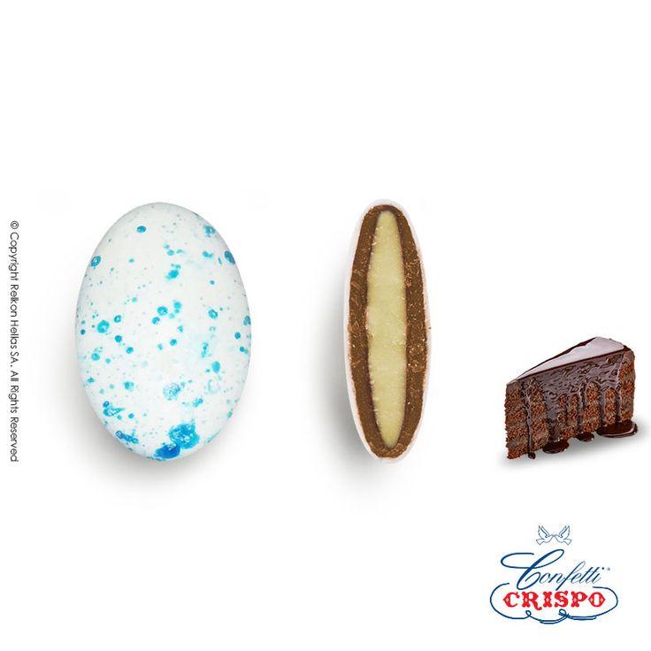 Νέο κουφέτο πιτσιλωτό και παιχνιδιάρικο! Ιδανικό για θαλασσινούς γάμους και βαπτίσεις! Sugarcandy filled with chocolate #crispo #confetti