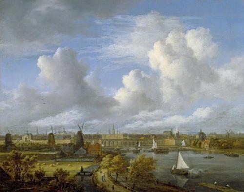 Jacob van Ruisdael, View on the Amstel Looking Towards Amsterdam
