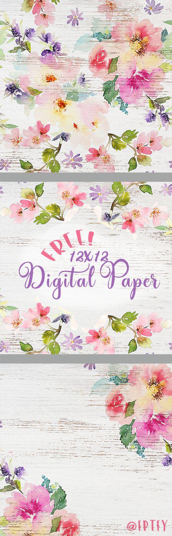Delightful Distressed Floral Digital Paper