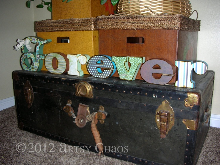Unfinished Wood FOREVER Letters Decor. via Etsy.