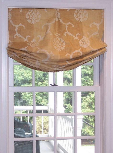 Style for kitchen windows relaxed roman shade by diann 39 s for Stylish window shades