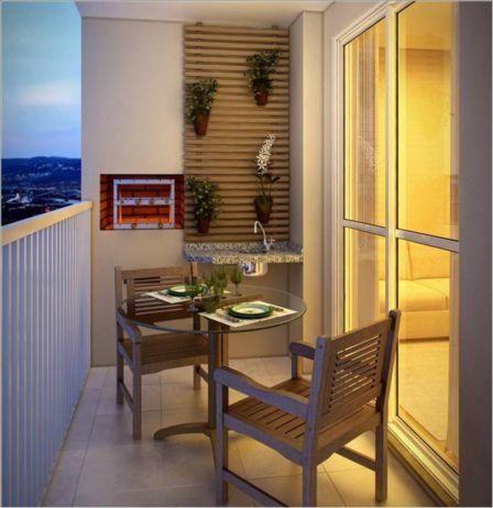 varandas pequenas de apartamento com churrasqueira - Pesquisa Google
