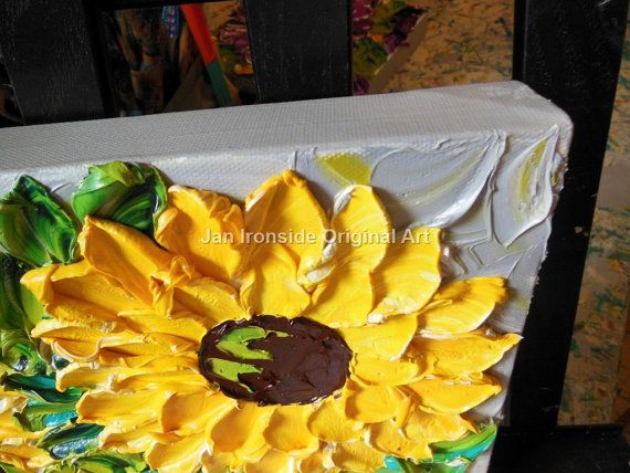 Sunflower painting Home and Living Home Decor by IronsideImpastos