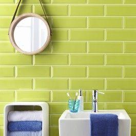 Metro Lime Green Wall Tile