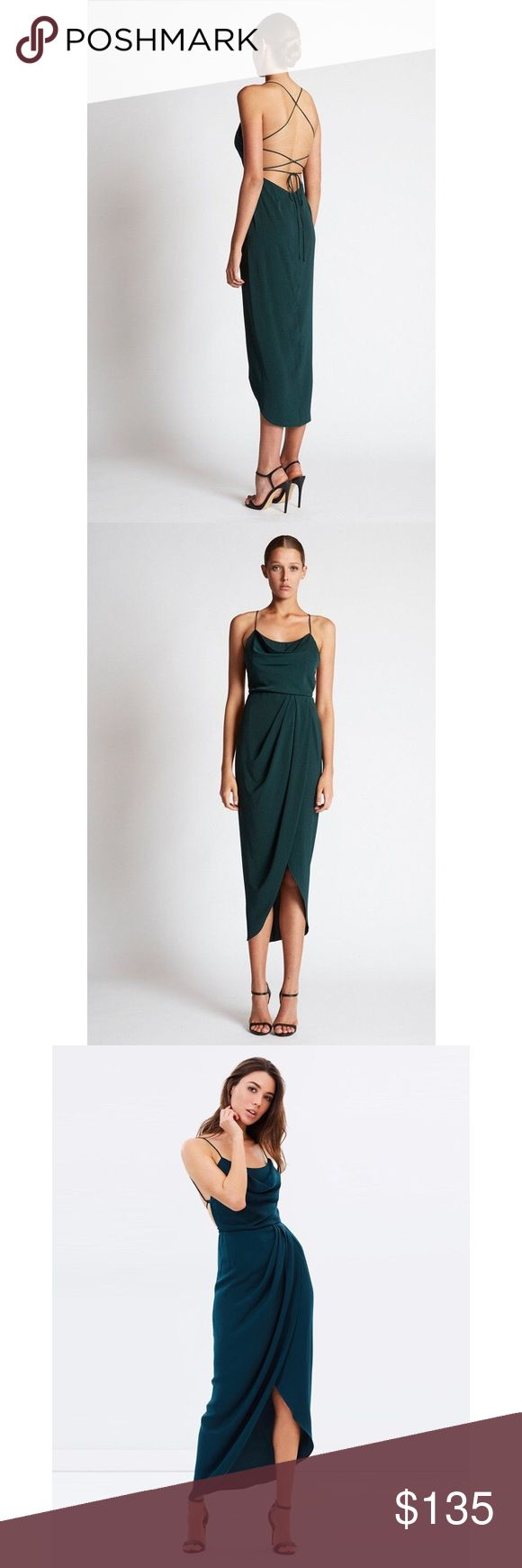 Shona Joy NWT green sold out cowl neck dress NWT