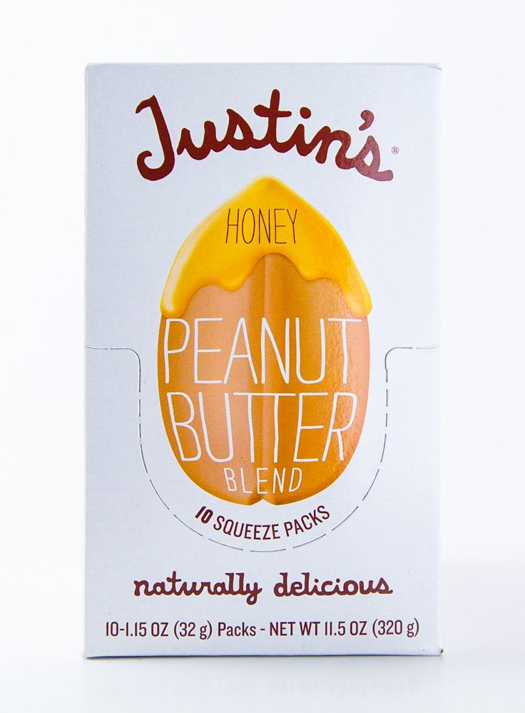 Justin's - Honey Peanut Butter Packets - Case of 10-1.15 oz Packs (11.5 oz Box)