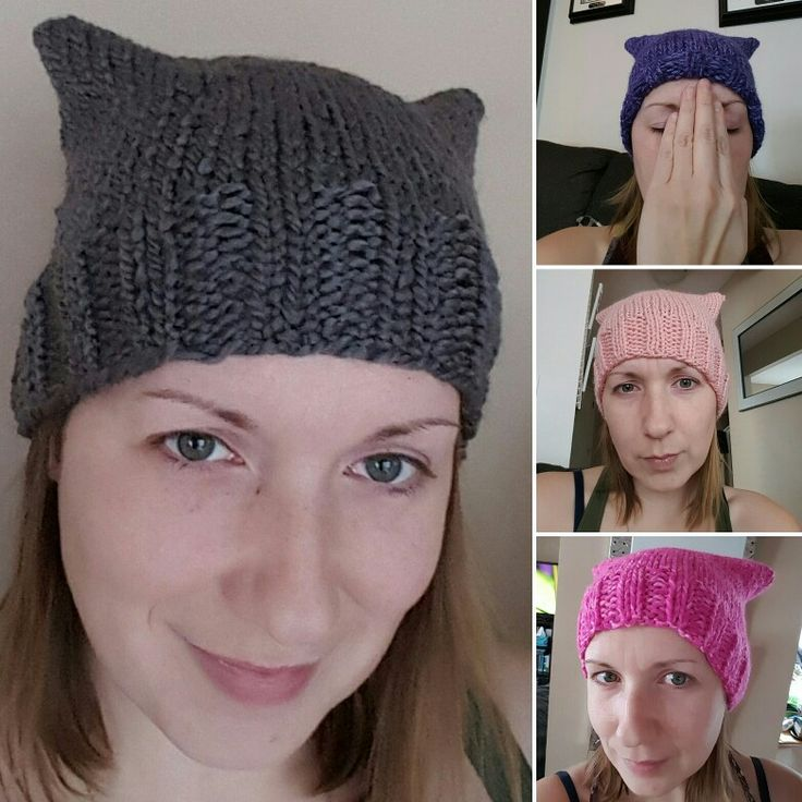 Knit Pussy hat. Woman's march. Kitty hats.  Pick your colour