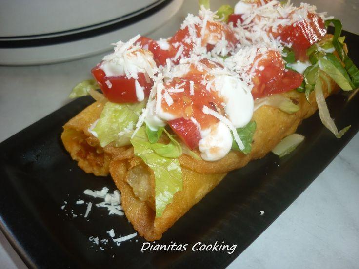 Τραγανά Τάκος (tacos dorados) με γέμιση Πατάτα-μπέικον!!!!!