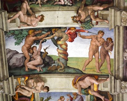 Sistine Chapel Ceiling - there were several Michelangelo pieces this year, including this.