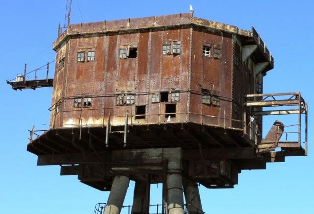 Deserted Places: Maunsell Forts: The abandoned sea forts from World War II