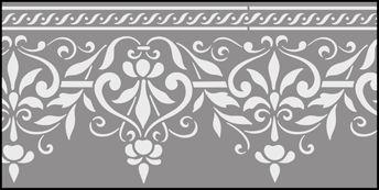 Click to see the actual OTT6 - Border No 6 stencil design.