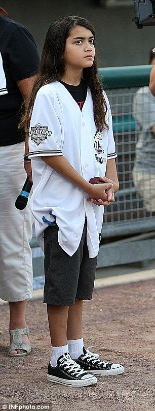 Michael Jacksons 10-year-old son Blanket in August 2012.