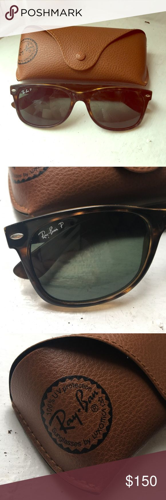 Ray Ban Wayfarer Authentic Ray Ban Wayfarer sunglasses. Polarized. Comes with case. Very minor scratches on lens (attempted to capture pictures) but not noticeable unless looking for them. Ray-Ban Accessories Sunglasses