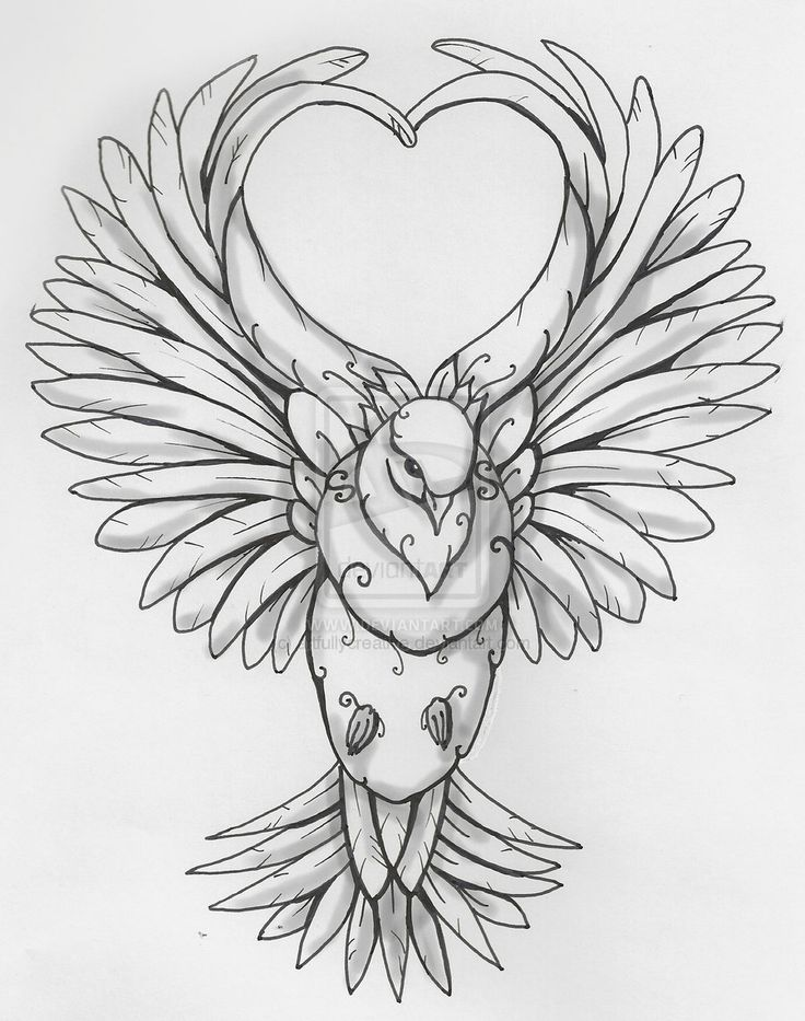 Dove and Heart by artfullycreative.deviantart.com on @deviantART