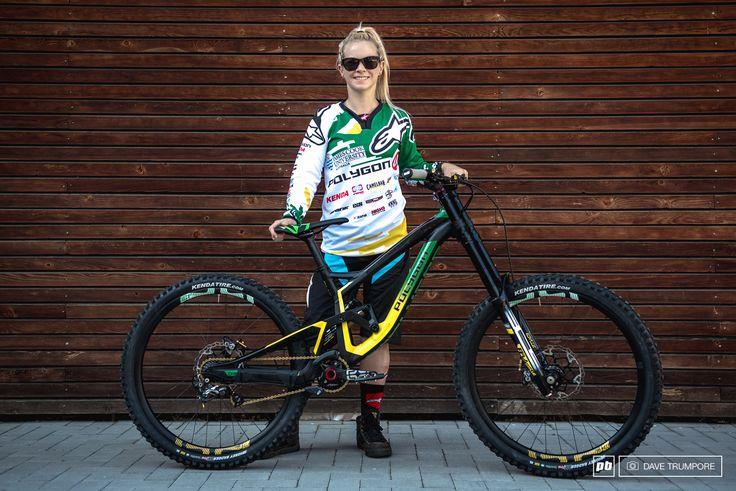 Tracey Hannah and her custom Polygon a fresh new World Champs kit from…