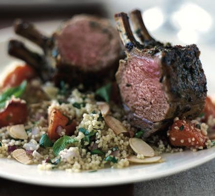 Roast rack of lamb with Moroccan spices recipe - Recipes - BBC Good Food