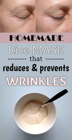 Prevents wrinkles – Homemade rice mask that reduces prevents wrinkles