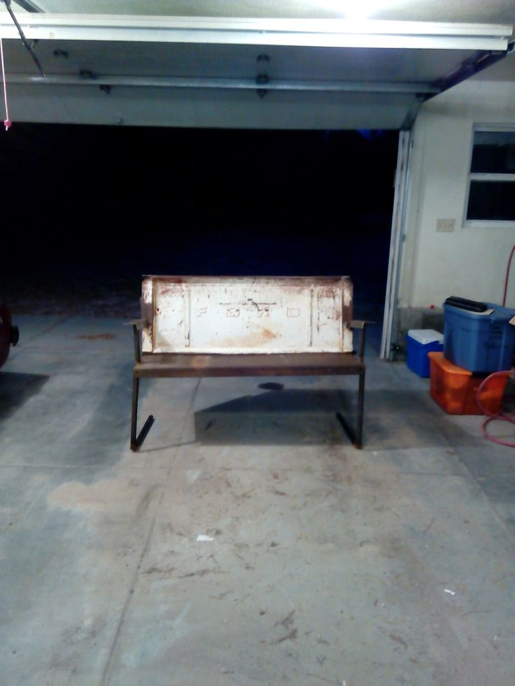 Ford truck tailgate bench by BlakesAutoFurnture on Etsy https://www.etsy.com/listing/270129610/ford-truck-tailgate-bench