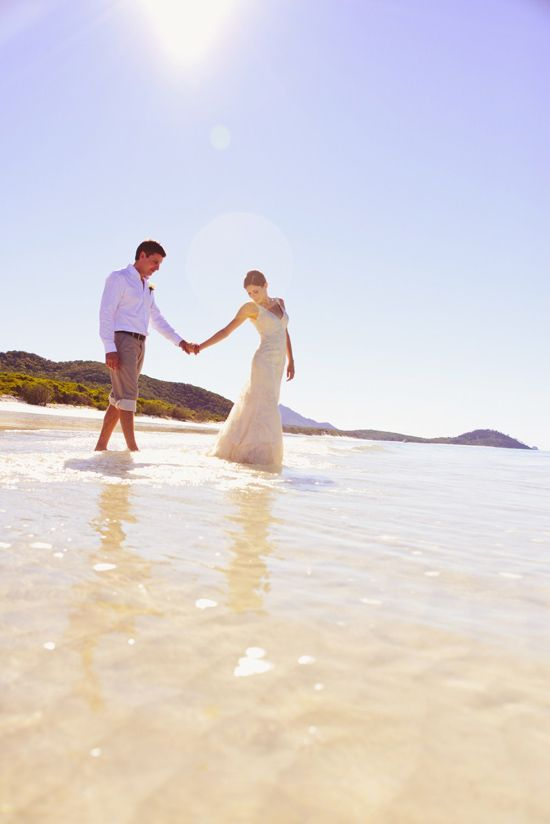 Water & The Wedding Dress On The Whitsunday Islands