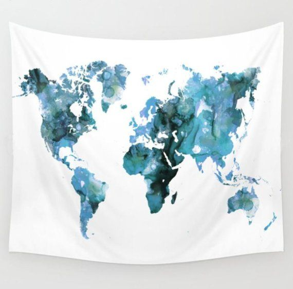 Wall Tapestry, Wall Hanging, Blue Tapestry, World Map ... on world map search engine, world map family, world map art, world map red, world map pillow, world map photography, world map poster, world map engraving, world map bedding, world map painting, world map leather, world map mosaic, world map lithograph, world map furniture, world map in spanish, world map legend, world map cross stitch pattern, world map collage, world map conspiracy, world map america,