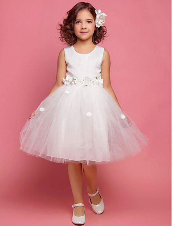 Цветок девочки платья для свадьбы девушки белый цветок платье девушки pageant платья для маленьких девочек первое причастие платья