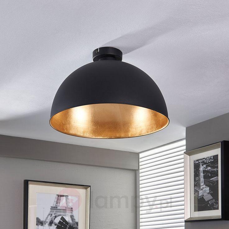Piękna lampa sufitowa Lya, czarno-złota 9620831