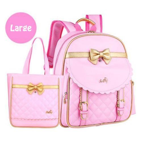 New Kids Bow Schoolbag Backpack High Quality PU Children Backpack Fashion Girls School Bags Waterproof Orthopedic Knapsack