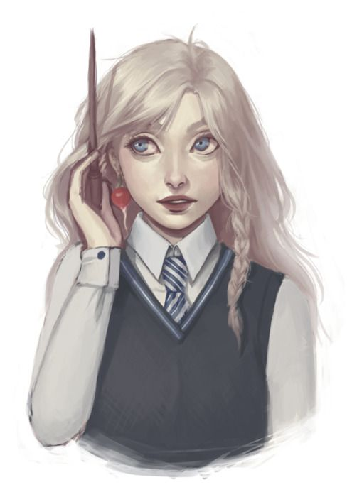 Luna Lovegood // favorite harry potter character  ¡Visita momoko.es! :D #libros #momoko #blog #fanart #Harry #Potter #Luna #Lovegood #ravenclaw #Hogwarts #magic