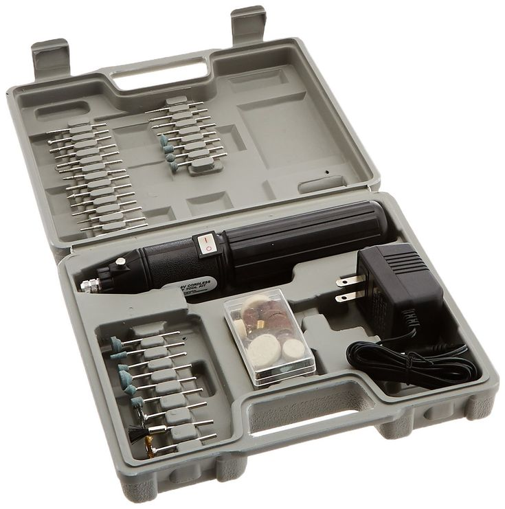 Hiltex 10655 Cordless Dremel Style Die Grinder Kit. Cordless and lightweight. Perfect for those finishing touches. Includes sturdy case.