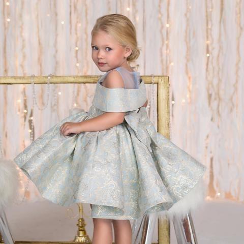 Clarissa Dress Dress (Silver Blue) - Baby Shop Online