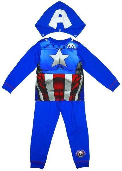 Boys' Captain America Long Sleeve Pyjamas Sleepwear Set with Detachable Hood  #canada #clothes #shoppingonline #shoppingday #fashion #instagram #kidsclothes #onlinestore #instalikes #fashionista