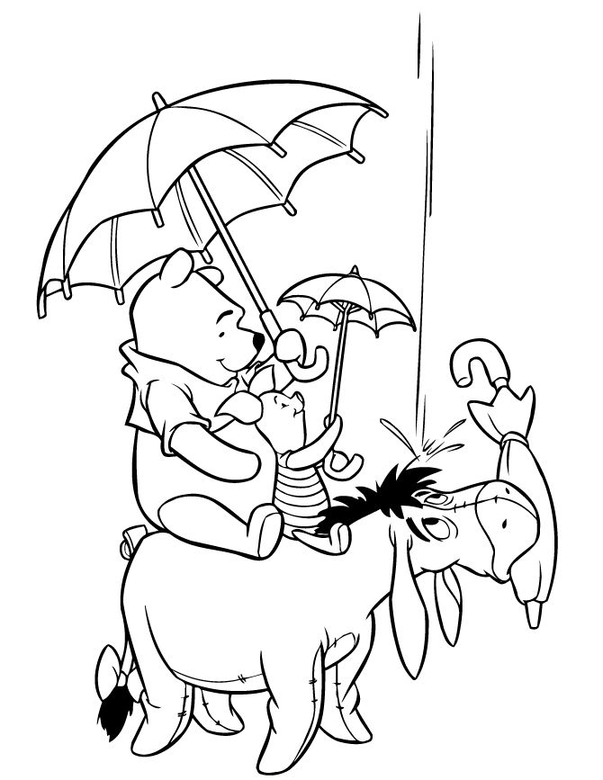 coloring pages of pooh bear - photo#19