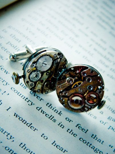 Steampunk Cufflinks Spring Sale. $40.00, via Etsy.