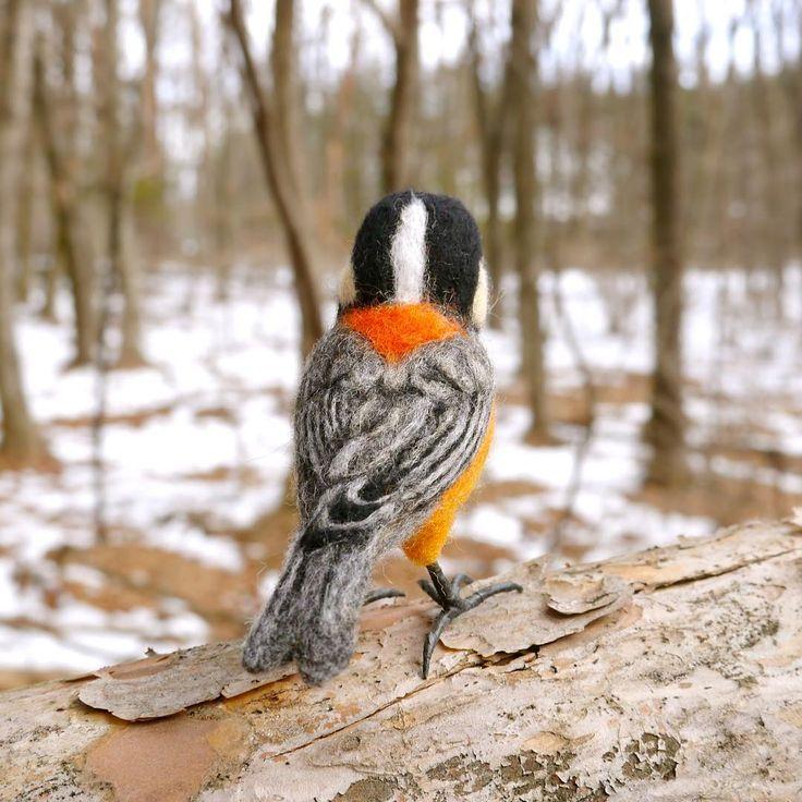ヤマガラ Varied  #羊毛フェルト##とり#bird #birds #needlefelting #feltart #needlefelt