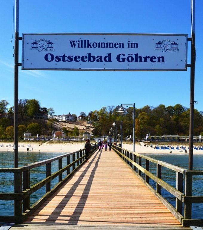 """Göhrener Seebrücke am Nordstrand in der Nähe der Ferienwohnung """"Zum alten Pfau"""" im Ostseebad Göhren auf der Insel Rügen, Urlaub auf Mönchgut an der Ostsee - Ihre private Unterkunft an der Ostseeküste"""